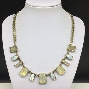 Ann Taylor Loft Beige Neutral Rhinestone Necklace
